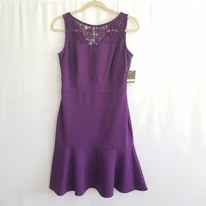 Business Midi dress by TAYLOR in Purple sz 4